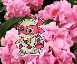 flowers, pizza, and ninja turtles image