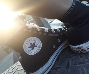 aesthetic, converse all star, and black image