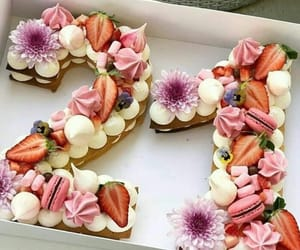 cake, flowers, and 21 image