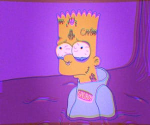 simpsons, cartoon, and bart image