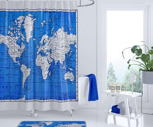 etsy, shower curtain, and pop color image