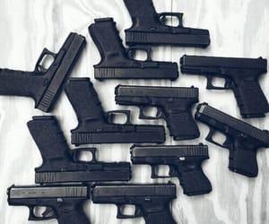 gun, black, and grunge image