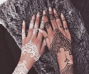black, henna, and white image