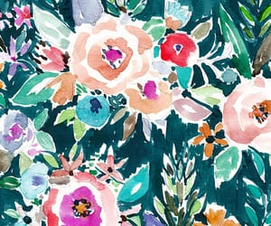 background, floral print, and pattern image