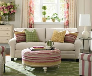 chic, interior, and pink image