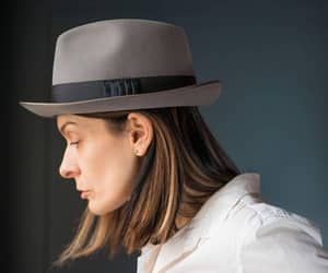 etsy, sustainable fashion, and grey fedora image