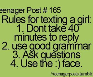 teenager post, rules, and text image