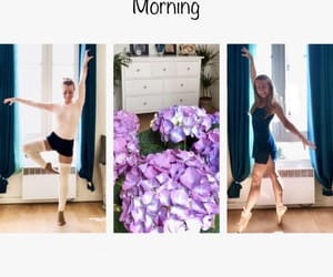 ballet, flowers, and morning image