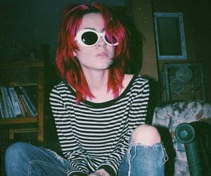 aesthetic, cobain, and colored hair image