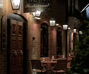 restaraunt, night, and alley image
