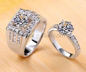 diamond engagement ring, gullei.com, and diamond wedding rings image