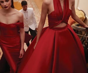 red, dress, and gown image