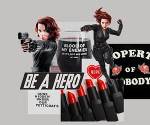 aesthetic, black widow, and edit image