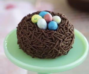 cake, chocolate, and eggs image