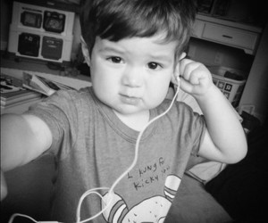 baby, boy, and music image