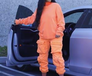 blackhair, orange, and kardashian image