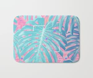 bath mat, nature, and tropical image