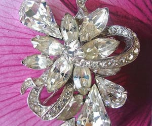 brooch, swarovski crystals, and clear rhinestones image