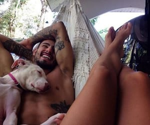 couple, dogs, and tatto image