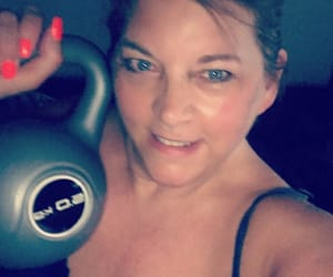 training, weightloss, and kettlebell image