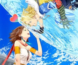anime, final fantasy, and yuna image