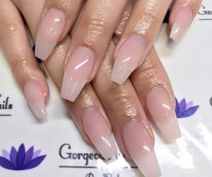 acrylic, long nails, and nails image