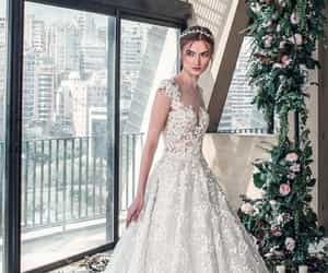beautiful, bridal, and wedding dresses image