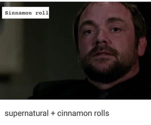 crowley, spn, and fergus image