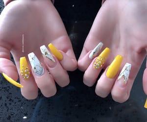 acrylic, gems, and long nails image