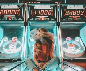 girl, photography, and arcade image