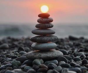 balance, beach, and beautiful image