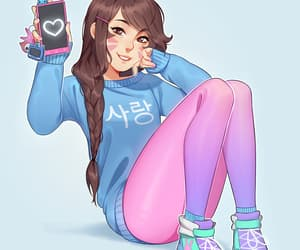 myart, d.va, and overwatch image