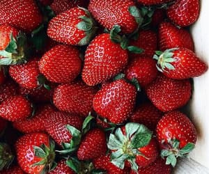 strawberry, red, and fashion image