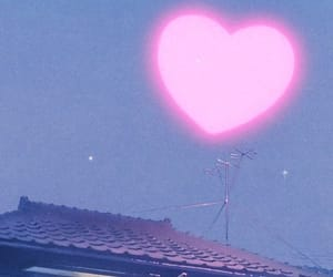 heart, pink, and night image