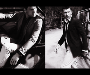 black and white, bw, and sam worthington image