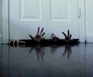door, hands, and zombies image