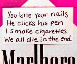 biting, die, and cigarettes image