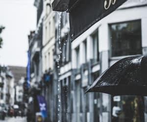 city, france, and rain image