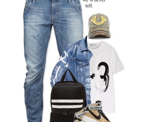 men, nike, and Polyvore image