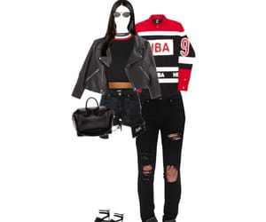 black, Polyvore, and red image