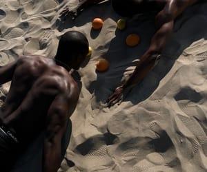 back, beach, and black beauty image