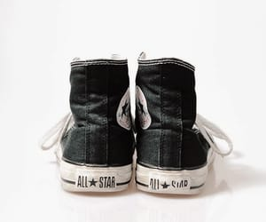 aesthetic, black, and black converse image