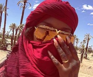 Dubai, nails, and glasses image