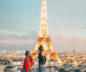 paris, light, and travel image
