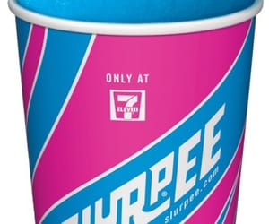 cups, pink and blue, and slurpee image