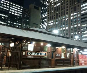 buildings, lights, and train image