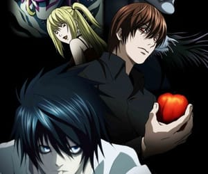 death note, kira, and L image