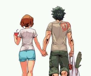 anime, anime couple, and boku no hero academia image