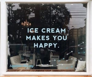 happiness, ice cream, and words image