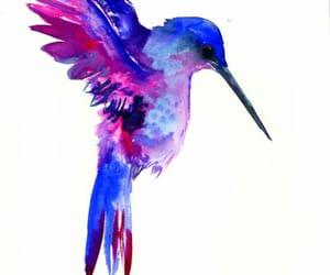 background, birds, and blue image